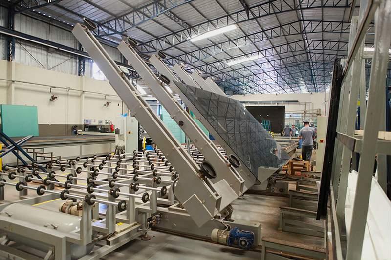 fabrica de vidros temperados